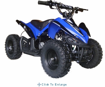 MotoTec 24v Mini Quad v2 Blue Kids ATV
