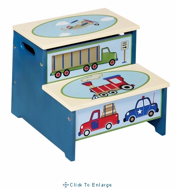 Moving All Around Toddler Storage Step-Up Stool