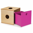 Pkolino Furniture Kube Drawer - Natural/Cobalt/Blue/Fuchsia w/Natural Frame