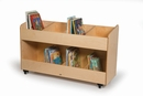 Eight Section Mobile Book Storage Cabinet