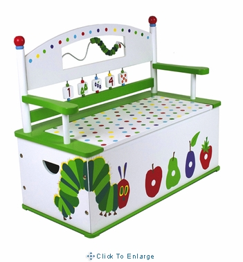The Very Hungry Caterpillar Bench Seat w/ Storage