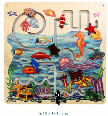 Waiting Room Toys-Sea Life Pathfinder Wall Panel-Made in USA