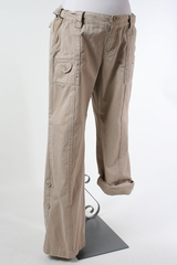 Beige Maternity Cargo Pants by Old Navy Maternity - Size 16