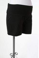 Black Jersey Fabric Maternity Shorts by Oh Baby! - Size Extra Large