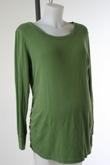 Green Long Sleeve Maternity Top by Gap Maternity - Size Extra Large