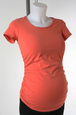 Orange Maternity T-shirt by A Pea in the Pod - Size Extra Small