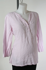 Pink Linen Maternity Top by Motherhood Maternity - Size Extra Large