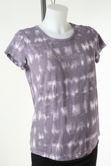 Purple Tie Dye 'Expecting' Maternity T-shirt by Oh Baby! - Size Medium
