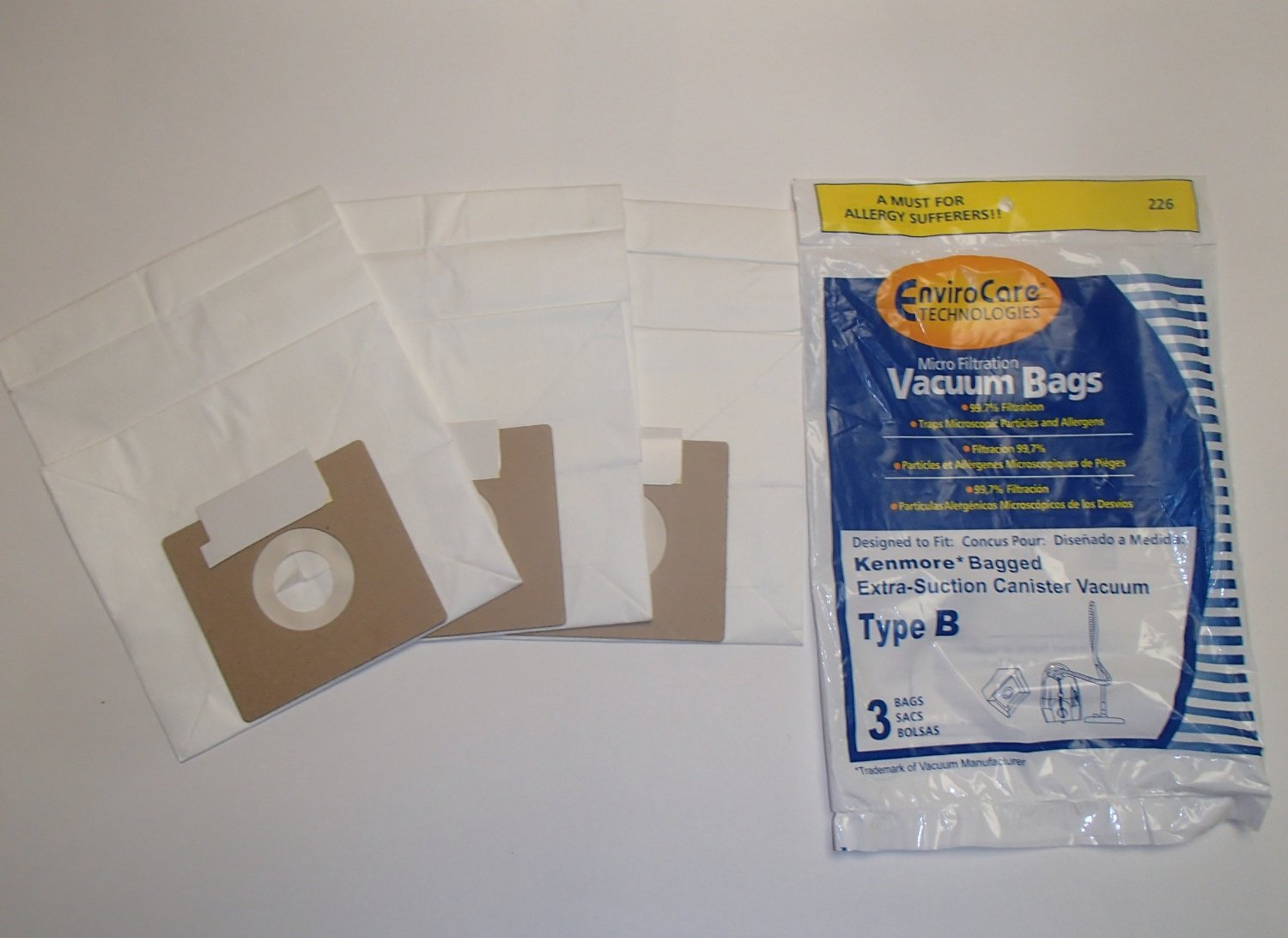 Kenmore Type B Micron Filtration Vacuum Cleaner Bags W Dust Seal Closure 6 Individual