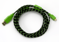 Green Braided 10ft Micro USB