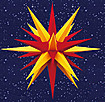 28 Inch Diameter Red and Yellow Plastic Moravian Star by Herrnhuter Sterne GmbH