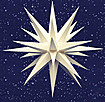 28 Inch Diameter White Plastic Moravian Star by Herrnhuter Sterne GmbH