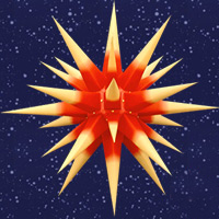 28 Inch Diameter Yellow with Red Center Paper Moravian Star by Herrnhuter Sterne GmbH