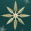 3D Shaved Tree Star Wall or Window Decoration by Martina Rudolph from Germany