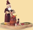 Santa with Christmas Presents Candle Holder by Kleinkunst aus dem Erzgebirge Müller GmbH