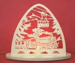 Train Tealight by Kunstgewerbe Taulin