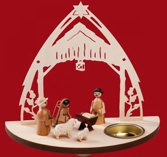Nativity Tealight by Kunstgewerbe Taulin in Seiffen