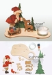 Make it Yourself Santa Tealight Candle Holder Kit by Drechslerei Kuhnert