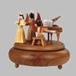 Angel Musician Trio with Piano Music Box