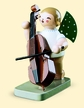 Angel with Double Bass Wooden Figurine by Wendt and Kuhn