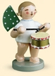 Angel with Drum Wooden Figurine by Wendt and Kuhn