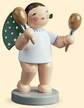 Angel with Maracas Wooden Figurine by Wendt and Kuhn