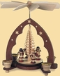 Angels Playing Music with Wood Shaved Tree, 1-Tier, Natural