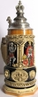 German King & Knights Beer Stein by KING-WORKS Wuerfel & Mueller GmbH and Co. in Hoehr-Grenzhausen