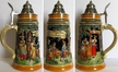 German A Walk in Nature, Painted Beer Stein by KING-WORKS Wuerfel & Mueller GmbH and Co. in Hoehr-Grenzhausen