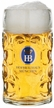 German Hofbrauhaus Dimpled Glass Beer Stein by KING-WORKS Wuerfel & Mueller GmbH and Co. in Hoehr-Grenzhausen