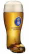 German Hofbrauhaus Glass Boot Beer Stein by KING-WORKS Wuerfel & Mueller GmbH and Co. in Hoehr-Grenzhausen