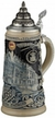 German Hofbrauhaus, Blue & White Beer Stein by KING-WORKS Wuerfel & Mueller GmbH and Co. in Hoehr-Grenzhausen