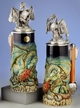 German Dragon Beer Stein by KING-WORKS Wuerfel & Mueller GmbH and Co. in Hoehr-Grenzhausen