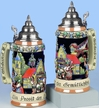 German Oktoberfest Relief Beer Stein by KING-WORKS Wuerfel & Mueller GmbH and Co. in Hoehr-Grenzhausen
