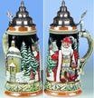 German Santa & Silent Night Chapel Beer Stein by KING-WORKS Wuerfel & Mueller GmbH and Co. in Hoehr-Grenzhausen