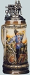 German Fireman Beer Stein by KING-WORKS Wuerfel & Mueller GmbH and Co. in Hoehr-Grenzhausen