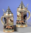 German Wildlife Beer Stein by KING-WORKS Wuerfel & Mueller GmbH and Co. in Hoehr-Grenzhausen
