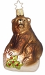 Bear on Log Ornament by Inge Glas