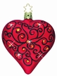 Bejeweled Love Heart Ornament Encrusted with Swarovski Crystals