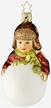 Big Dreams, Boy on Snowball - Life Touch Ornament by Inge Glas