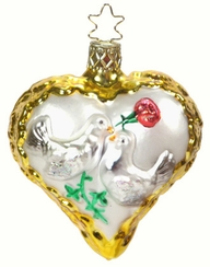Birds of Love Ornament by Inge Glas