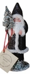 Black Glittered Coat Santa Paper Mache Candy Container by Ino Schaller