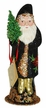 Black, Red & Green Santa Paper Mache Candy Container by Ino Schaller