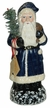 Blue with Bag Santa Paper Mache Candy Container by Ino Schaller