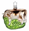 Brown Cow Ornament by Inge Glas