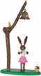 Bunny Girl with Bell Wooden Figurine by Drechslerei Kuhnert GmbH