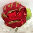 Clip On Red Rose Ornament by Inge Glas