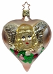 Victorian Angel on Heart Ornament by Inge Glas