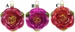 Colors of Love Rose Ornament by Inge Glas - $12 Each