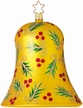 Golden Holly Large Bell Ornament by Inge Glas in Neustadt by Coburg